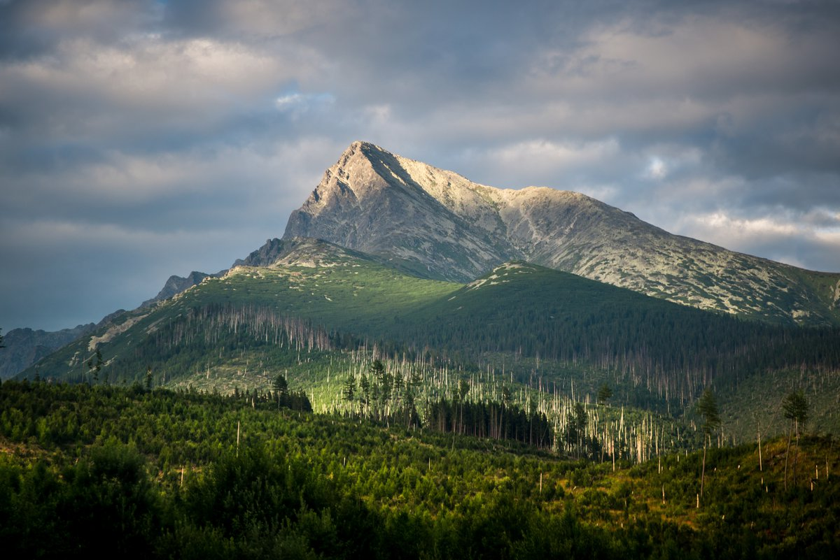 View onto Krivan mountain in High Tatras