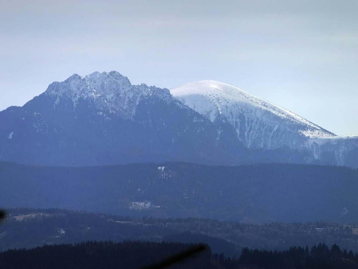 hiking in Zywiec Beskid mountain range, southern Poland