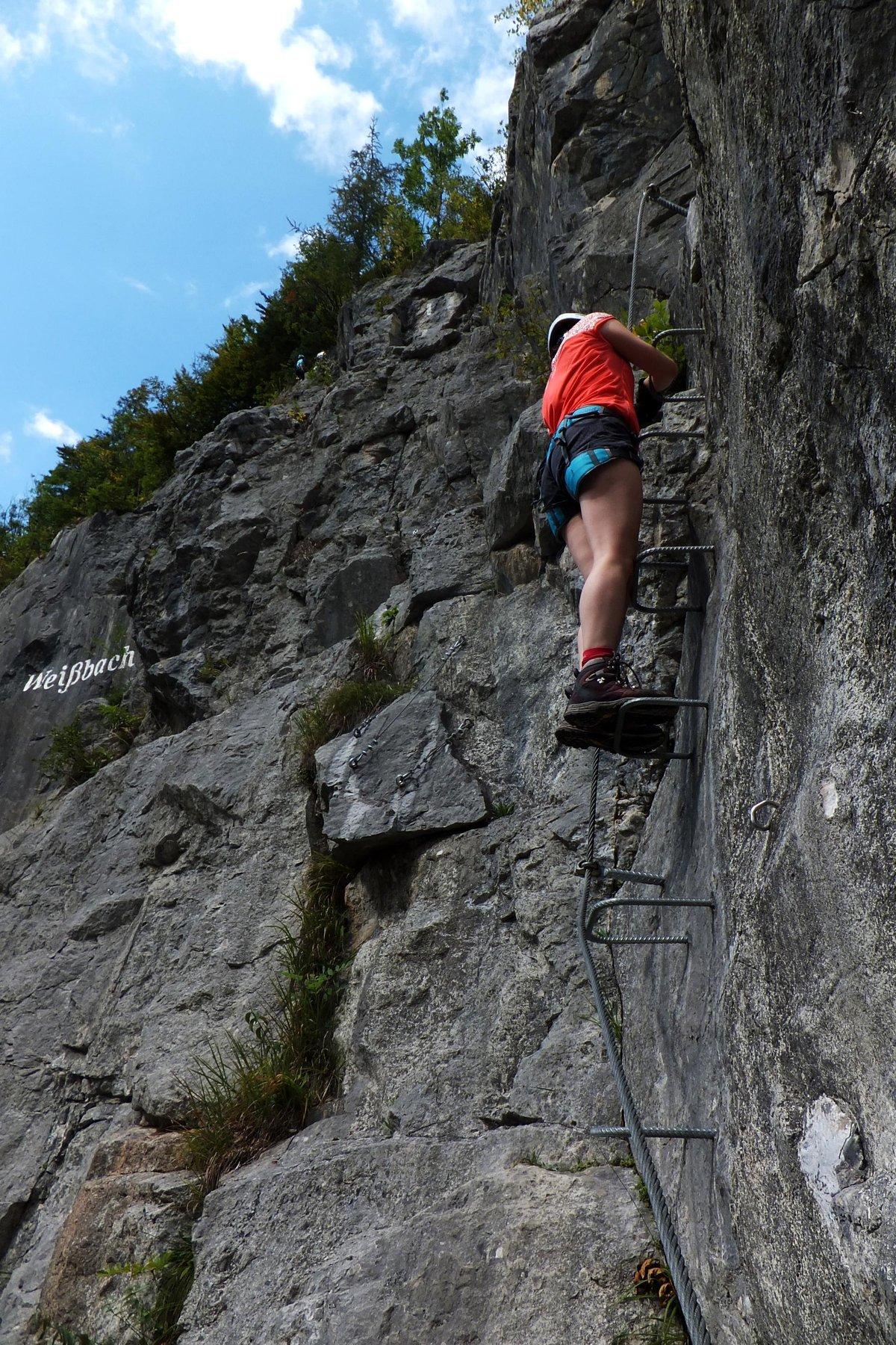klettersteig, via ferrata in Weißbach, Austrian Alps, Salzburg region