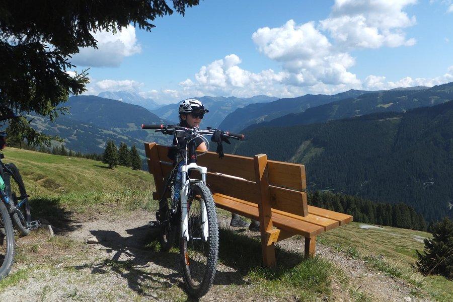 Bike riding in Saalbach, Austrian Alps
