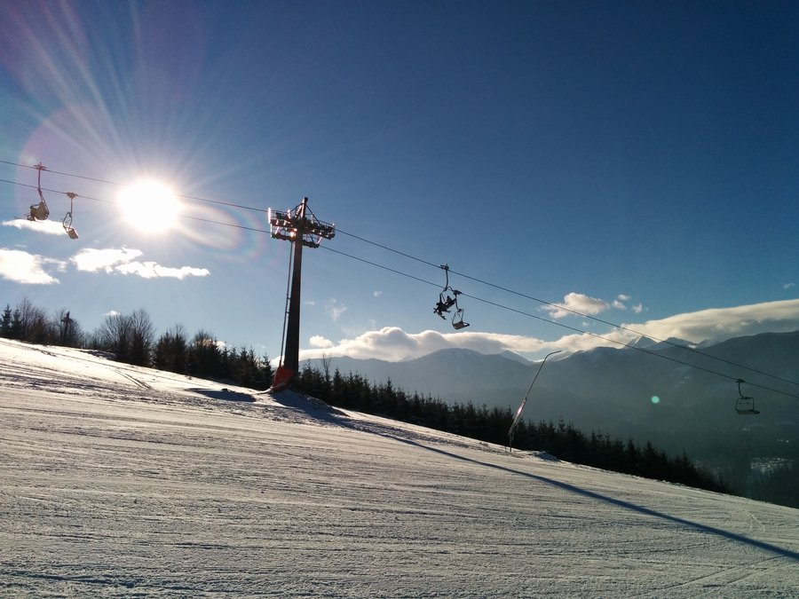 skiing in Oravice Meander Park, Slovakia