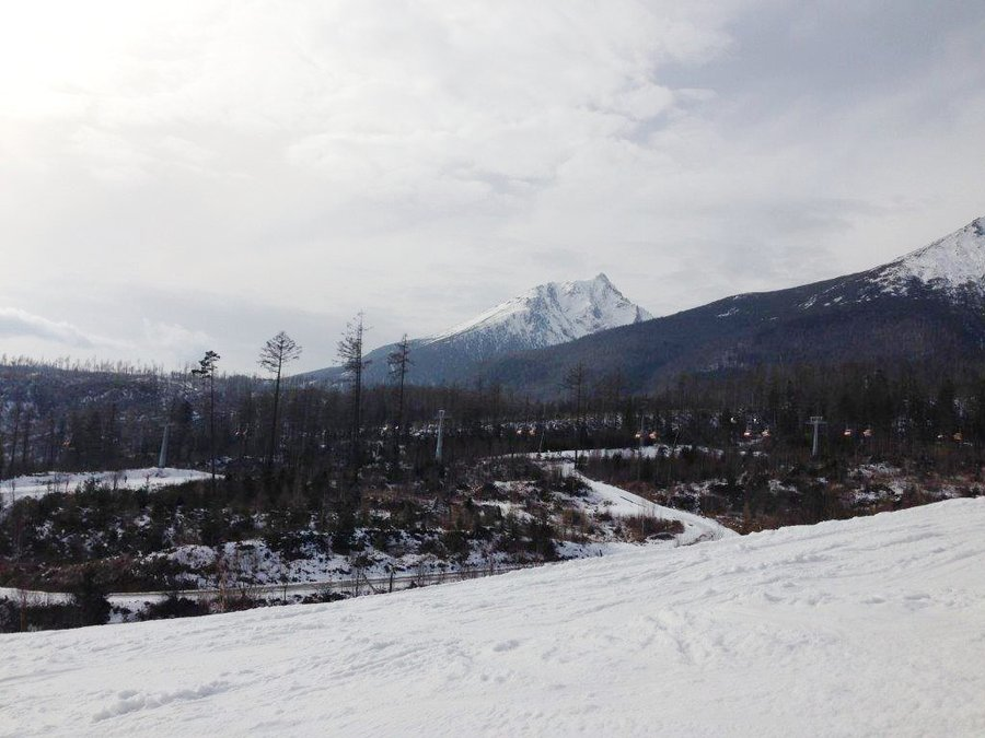 Skiing in Tatranska Lomnica, Slovakia