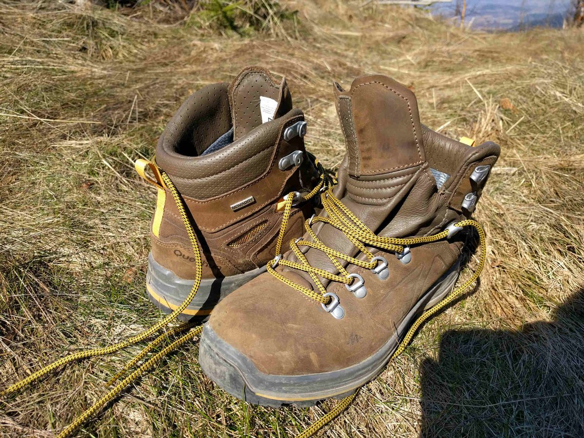 QUECHUA men's hiking boots - TREK 600