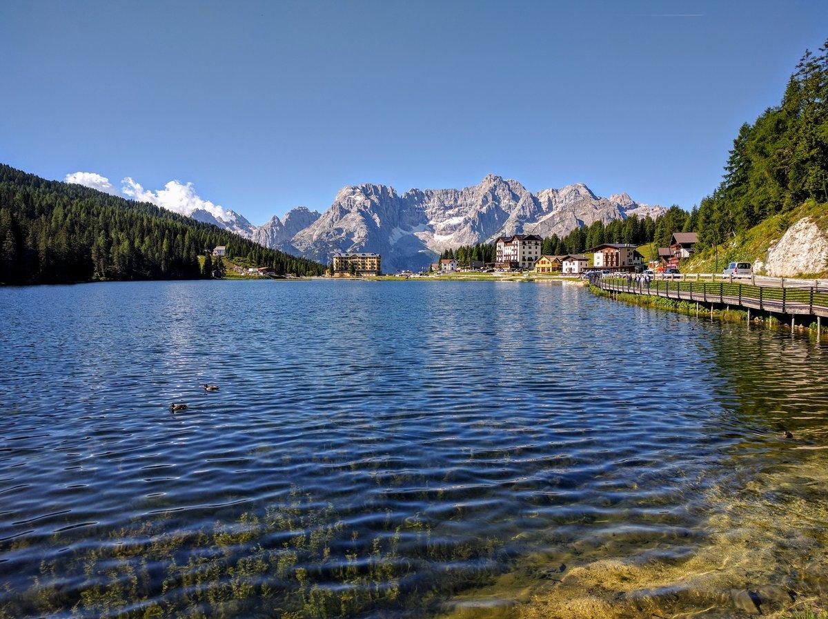 Lake Misurina.  Dolomites, Italy