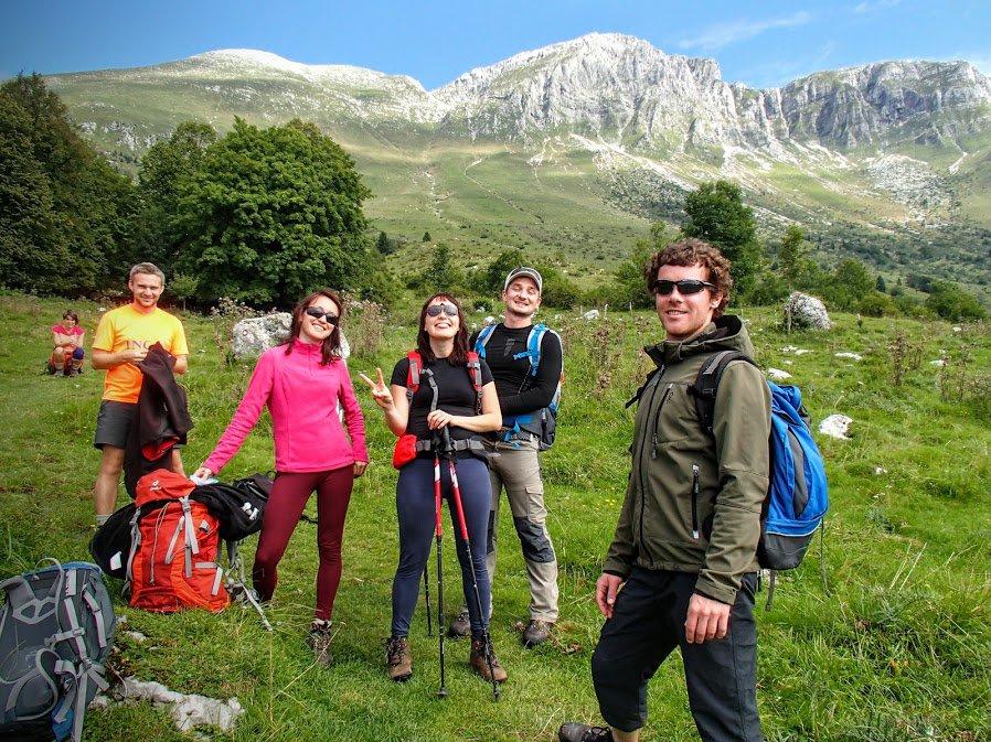 Hiking in Julian Alps near Tolmin, Slovenia
