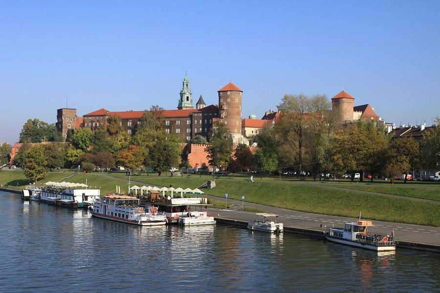 Wawel Castle in Cracow, Poland