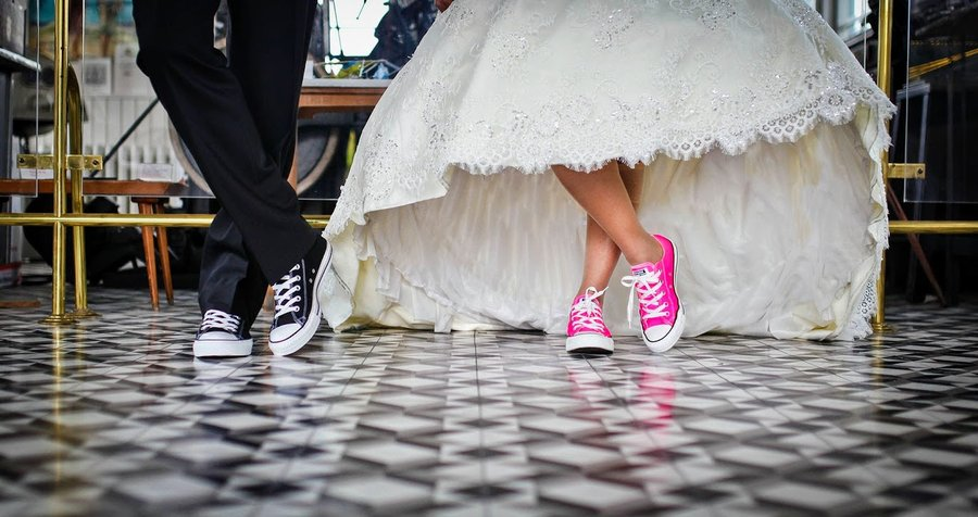 wedding pink trainers