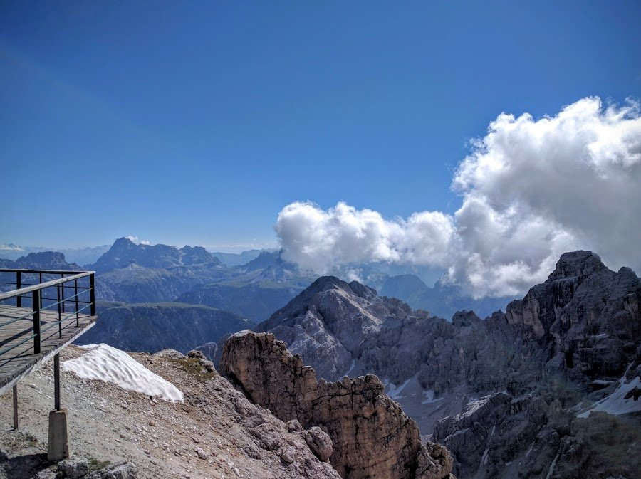 Amazing view from Forcella de Staunies, Cristallo group, near Cortina d'Ampezzo