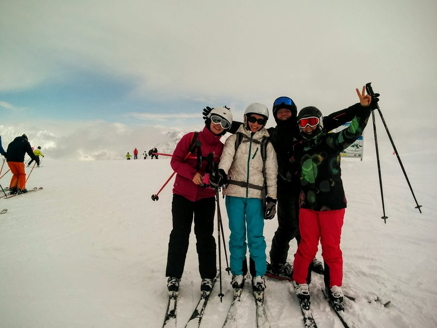 friendship, travel with funny people, skiing in Livigno