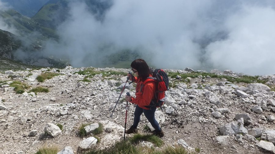 Hiking in the mountains - Julian Alps, Slovenia
