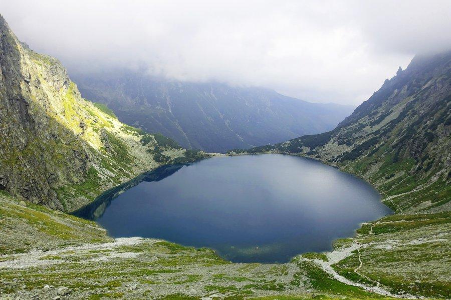 View of dark lake
